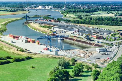 Häfen Deltaport Rhein Lippe Wesel Datteln Kanal Stadt Voerde